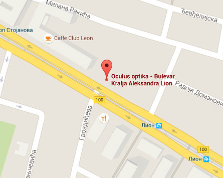 bulevar kralja aleksandra mapa beograda Bulevar Kralja Aleksandra 191 | Oculus Optika bulevar kralja aleksandra mapa beograda