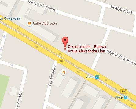 bulevar kralja aleksandra mapa Bulevar Kralja Aleksandra 191 | Oculus Optika bulevar kralja aleksandra mapa