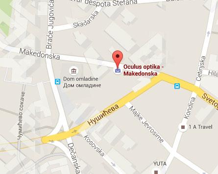 mapa beograda makedonska ulica Makedonska 15 | Oculus Optika mapa beograda makedonska ulica