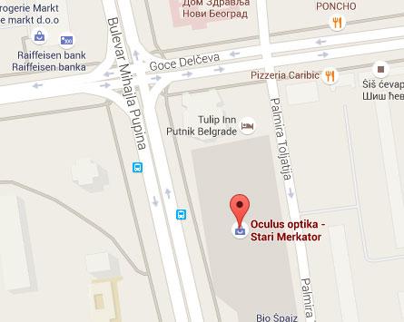 merkator novi beograd mapa Stari Merkator | Oculus Optika merkator novi beograd mapa