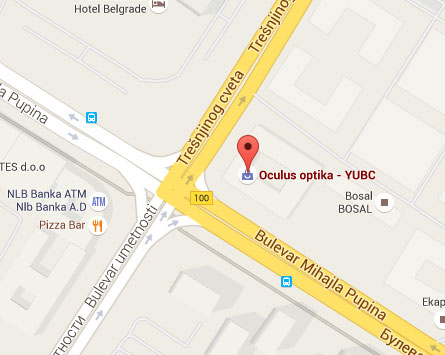 mapa beograda bulevar mihajla pupina YUBC | Oculus Optika mapa beograda bulevar mihajla pupina