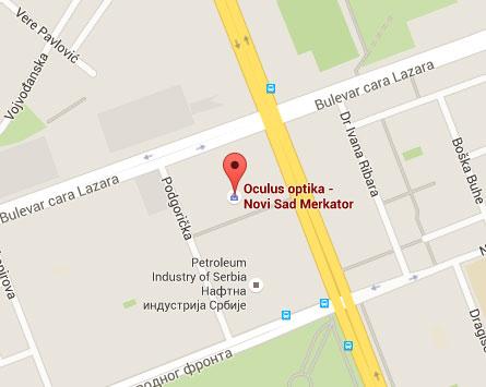 mapa oculus optika novi sad merkator