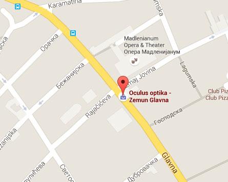 mapa oculus optika zemun glavna