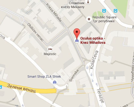 mapa optika knez mihailova stari grad